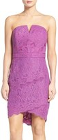Adelyn Rae Women's Strapless Lace Dress