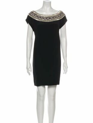 Marchesa Silk Mini Dress Black