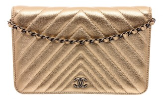 Chanel Wallet on Chain Gold Leather Clutch bags