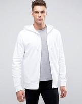 Asos Zip Up Hoodie In White
