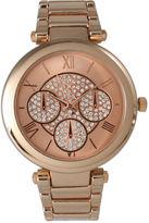 OLIVIA PRATT Olivia Pratt Womens Rose Gold-Tone Rhinestone Accent Dial Bracelet Watch 15140 15140Rose