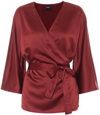 Max Mara Leisure Aeroso satin wrap blouse