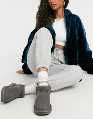 UGG Classic Ultra Mini ankle boots in gray