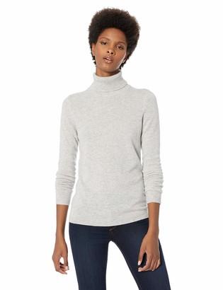 Lark & Ro Women's Turtleneck Pullover Cashmere Sweater