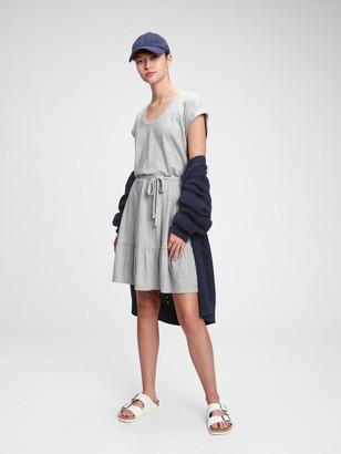 Gap V-Neck Tiered Dress