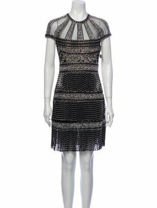 Naeem Khan Crew Neck Mini Dress w/ Tags Black