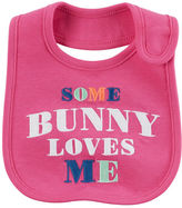 Carter's Some Bunny Loves Me Easter Teething Bib