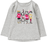 Gymboree Gray Girl Friends Embroidery-Detail Graphic Tee - Infant & Toddler