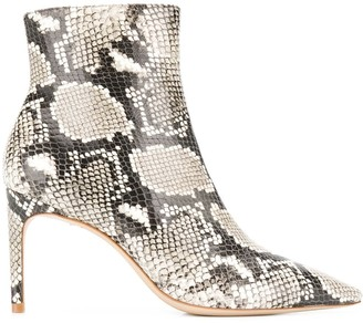 Sophia Webster Rizzo python print ankle boots