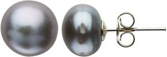 Claudia Bradby Freshwater Pearl Button Stud Earrings, 9-10mm
