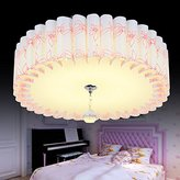 Lilamins Led Ceiling Light Circular Idyllic Wedding Room Light Crystal Room Lights For Living Room,Bathroom,Bedroom,And Dining Room Led Ceiling Lights, Pink Orchids Children 18Wled38Cm