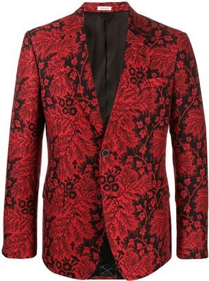 Alexander McQueen Floral Jacquard Blazer