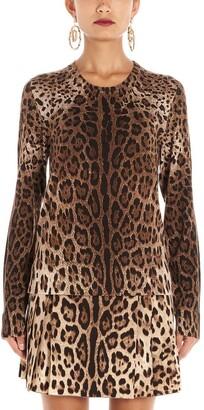 Dolce & Gabbana Animalier Printed Sweater