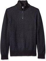 Calvin Klein Jeans Men's Speckle Plated Quarter Zip Sweater