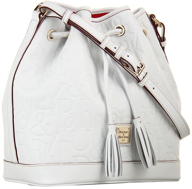 Dooney & Bourke DB Retro 3.1 Drawstring (White) - Bags and Luggage
