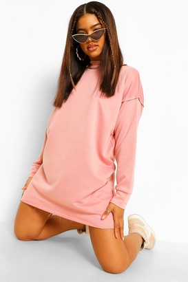 boohoo Arm Seam Detail Oversized Sweater Dress