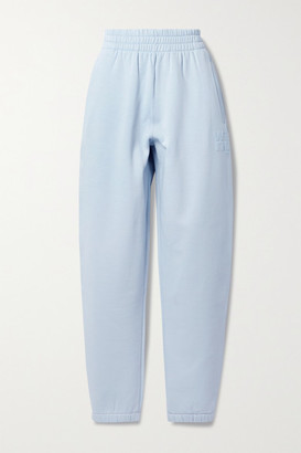 alexanderwang.t Printed Cotton-blend Jersey Track Pants - Sky blue