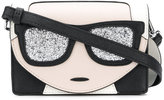 Karl Lagerfeld glitter shoulder bag