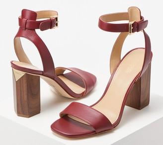 MICHAEL Michael Kors Geometric Block Heel Sandal - Petra