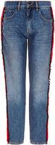 Victoria By Victoria Beckham Blue Denim & Grosgrain Neat Boy Jeans