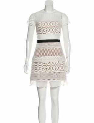 Self-Portrait Lace Pattern Mini Dress w/ Tags White