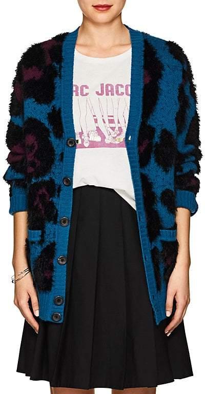 Marc Jacobs Women's Leopard Wool-Blend Cardigan