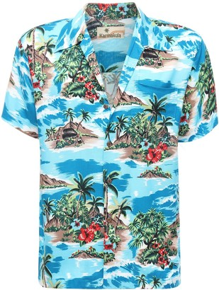 Palm Island Printed Hawaiian Shirt