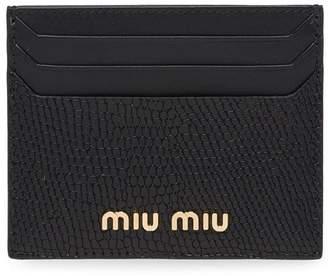 Miu Miu logo plaque card holder