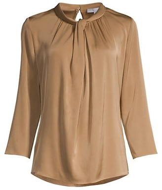 HUGO BOSS Iyabo2 Crepe de Chine Knotted Top