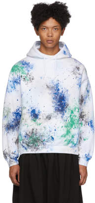 SASQUATCHfabrix. White and Multicolor Painted Vintage Hoodie