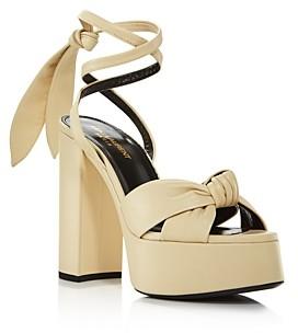 Saint Laurent Women's Bianca 85 Platform Sandals