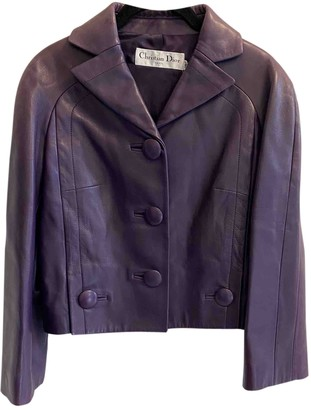 Christian Dior Purple Leather Jackets