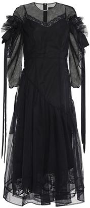 Simone Rocha Asymmetric Ruffle-trimmed Tulle Midi Dress