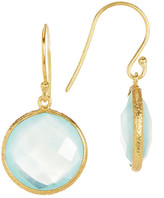 Argentovivo 18K Gold Plated Sterling Silver Labradorite Drop Earrings