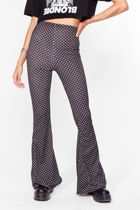 Nasty Gal Womens Star Player High-Waisted Flare Trousers - Black - 6