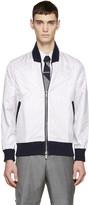 Thom Browne Tricolor Nylon Layered Bomber Jacket