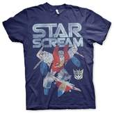 Transformers Officially Licensed Starscream Distressed T-Shirt (Navy)