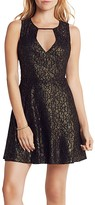 BCBGeneration Geometric Foiled Lace Mini Dress