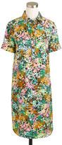J.Crew Silk shirtdress in technicolor floral