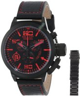 Trafalgar Ballast Men's BL-3101-08 Analog Display Swiss Quartz Black Watch