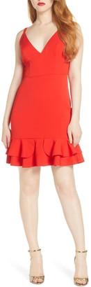 Foxiedox Sleeveless Ruffle Hem Cocktail Dress