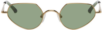 Dries Van Noten Gold Linda Farrow Edition Cat-Eye Sunglasses