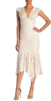 Reiss Anastasia Lace Midi Dress