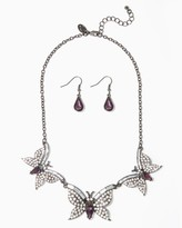Charming charlie Butterfly Luxe Necklace Set