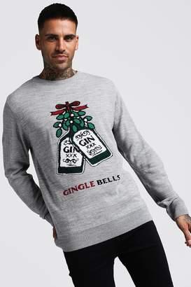 boohoo Gingle Bells Christmas Jumper
