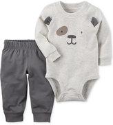Carter's 2-Pc. Cotton Dog Bodysuit & Jogger Pants Set, Baby Boys (0-24 months)