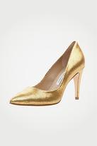 Anette In Gold Metallic Lizard