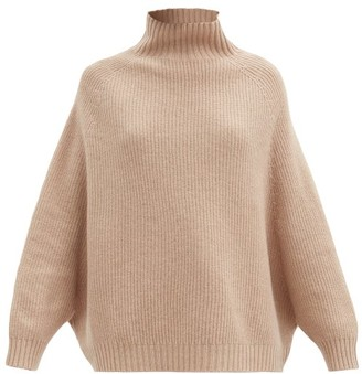 Wolford Aurora High-neck Wool Sweater - Camel