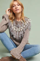 Anthropologie Fringed Isle Pullover