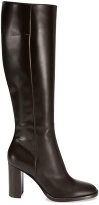 Gianvito Rossi Josseline Calf-High Leather Boots
